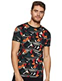 Scotch & Soda Herren T-Shirt AMS Blauw Regular fit Allover Printed Tee Mehrfarbig (Combo F 0M) Medium (Herstellergröße: M)