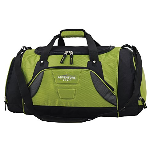 travelers-club-luggage-20-multi-pocket-duffel-with-wet-shoe-pocket-green