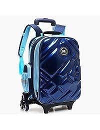 Preisvergleich für HCC&& 3D Wasserdicht Rollbarer Rucksack Multifunktion Treppen Steigen Trolley Schultasche Zum Mädchen Jungen Schulbücher-Tasche
