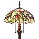 Bieye L31408 65 Zoll Schmetterling Tiffany-Stil Glasmalerei Stehlampe