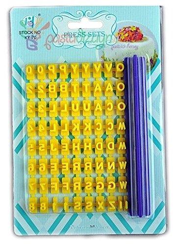 DekoShop-Keks Torten Buchstaben Zahlen Stempel Set