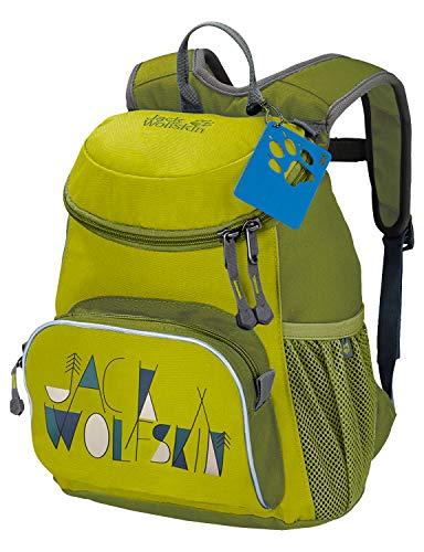 Jack Wolfskin Little Joe Kinderrucksack, kleiner Tagesrucksack für den Kindergarten, Wanderrucksack für Kinder mit breiten und bequeMen Gurten - Kleine Kinder Lime Bekleidung