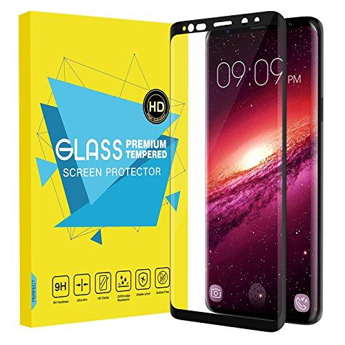 Mejor Protector de Pantalla 3D Premium HD Claro para Galaxy S9, MoKo