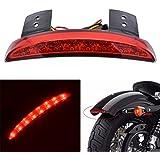 Luz de frenos para guardabarros, luz trasera de frenos, motocicleta KaTur, 8LED rojas para Harley Sportster XL 883N 1200N XL1200V XL1200X