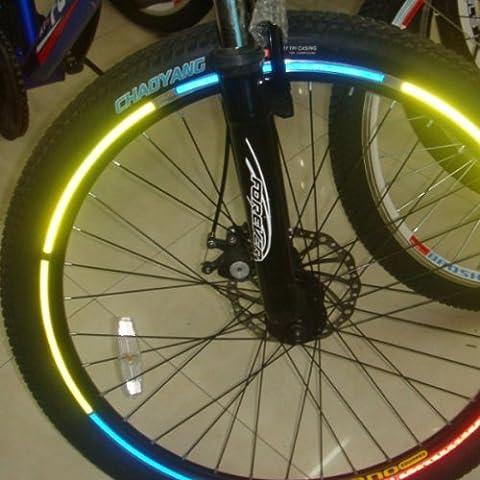 Bicicleta Material reflectante pegatina llanta dodoskinz.