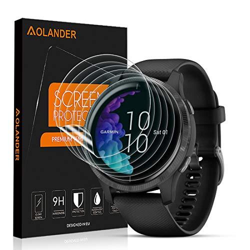 AOLANDER Compatible with Garmin Venu 43mm TPU Protection d'écran (Pas En Verre) pleine couverture [imperméable, anti-tâches] Film Protecteur HD Transparent Screen Protector [Lot de 6]