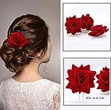 Yean Flower Haarkämme Flamenco-Tänzerin Haarnadeln Set Dekorative Kopfbedeckung für Damen und Mädchen