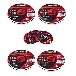 5 Packs of 10 Abracs Proflex PFET11510FI Extra Thin INOX Cutting Disc 115 x 1.0 x 22mm