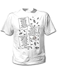 Teesquare1st Men's FRANZ KAFKA METAMORPHOSIS QUOTES White T-Shirt