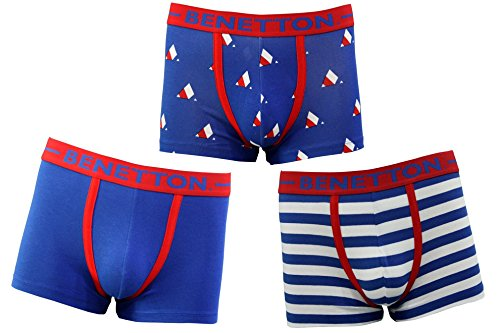 United Colours Of Benetton Men's Cotton Trunk (pack Of 3) 8907327008585 C01di-903 Printed Red