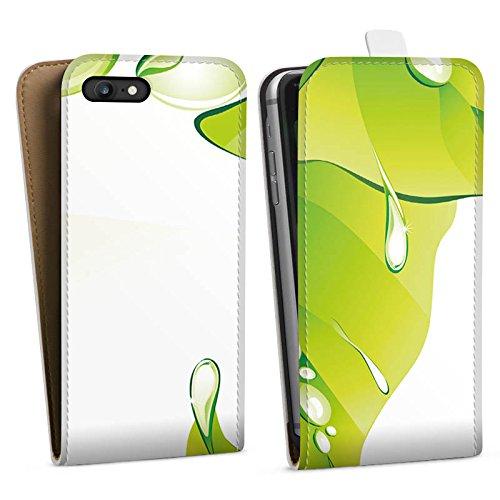 Apple iPhone X Silikon Hülle Case Schutzhülle Blätter Regentropfen Tautropfen Downflip Tasche weiß