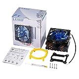 guoxuEE Refroidisseur de processeur LESHP Ultra silencieux avec caloducs en Cuivre pur, ventilateur 120 mm