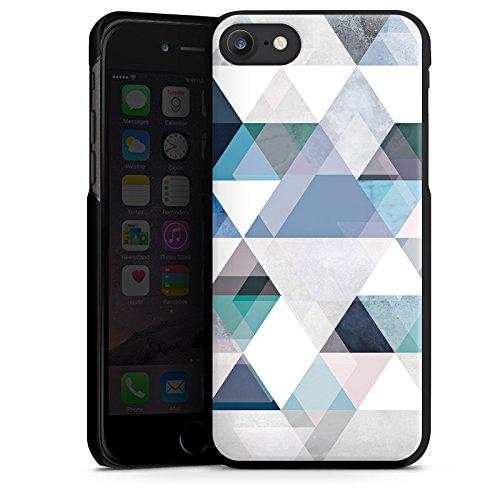 Apple iPhone X Silikon Hülle Case Schutzhülle Abstrakt Triangle Muster Hard Case schwarz