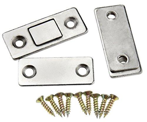 Juego cierre magnético 2 piezas acero puertas, muebles