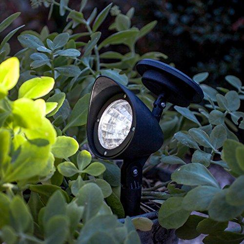 Offre Spéciale : Lot de 2 x Lampes Spots Solaires à LED Blanches pour Jardin de Lights4fun