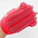 Tierbedarf für Katze und Hund, Hundesalon Werkzeug True Touch Haar Haustierkamm Cat Shedding Finger Pinsel Handschuh Pet Effiziente Massage Grooming Cat Supplies (Color : White)