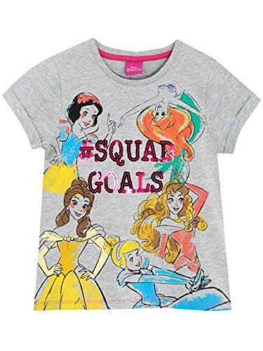 Disney Princess Girls Snow White Belle Cinderella Aurora Ariel T-Shirt Ages 5 to 13 Years