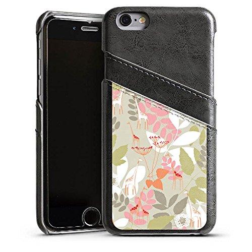 Apple iPhone 6 Housse Étui Silicone Coque Protection Ornement Motif Motif Étui en cuir gris