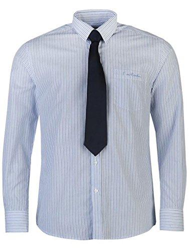 Pierre Cardin Herren Freizeit-Hemd White/Blue Strp