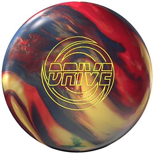 Storm Drive High Performance Bowling-Ball Bowling-Kugel mit viel Bogen Reaktiv Signature Linie mit EMAX Reiniger und Mikrofaserhandtuch Größe 15 LBS