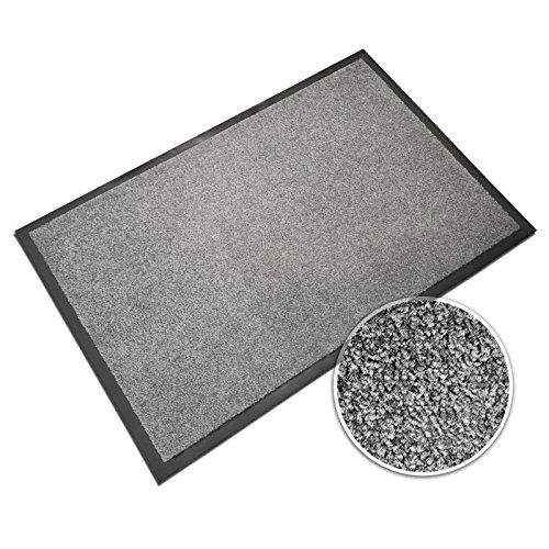 casa pura® Premium Fußmatte in attraktiver Optik   Schmutzfangmatte in 5 Größen   hellgrau   120x180cm