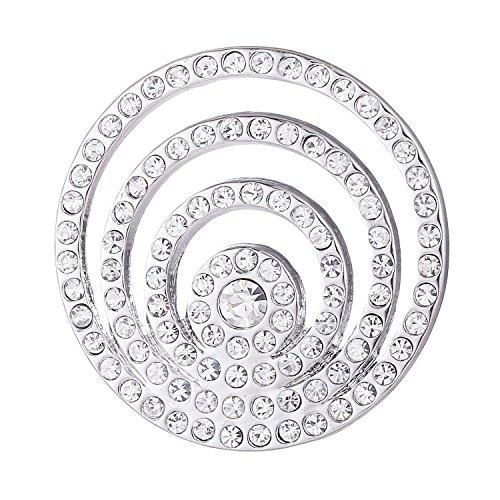 Morella Damen Coin silber Strassringe 33 mm