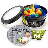 Das Ultimative Jonglier-Set / 3 Bälle + 3 Tücher und lern DVD von Mister M