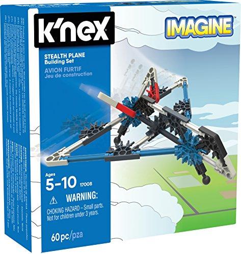 K'Nex Imagine Stealth Plane - Juego de Construcción de Avión sigiloso para Niños de 5 Años de Edad, Juguete para Construcción, con 61 Piezas