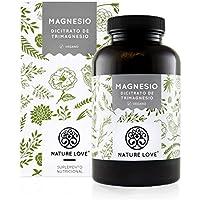 NATURE LOVE® Magnesio - 2250 mg citrato de magnesio, de ello 360 mg magnesio elemental por dosis diaria. 180 cápsulas.