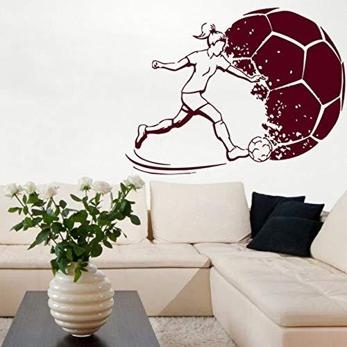 Frauen Aufkleber Sport Fußball Applique Helm Mädchen Kind Raum Name Poster Vinyl Wandtattoo Fußball Aufkleber 58 * 77 Cm Anpassbare ()