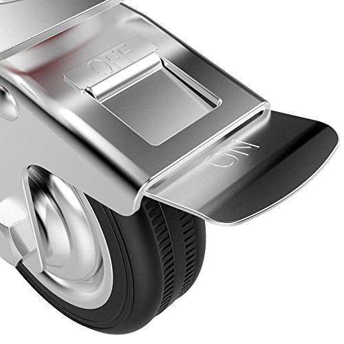 51IdYhT1aPL - Popamazing - Ruedas giratorias de goma, 4 unidades, resistentes, 200 kg, 75 mm, color negro