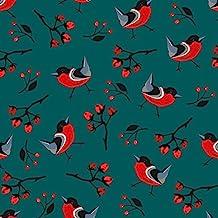 regalo de Navidad Papel–Navidad pájaro–Juego de 3