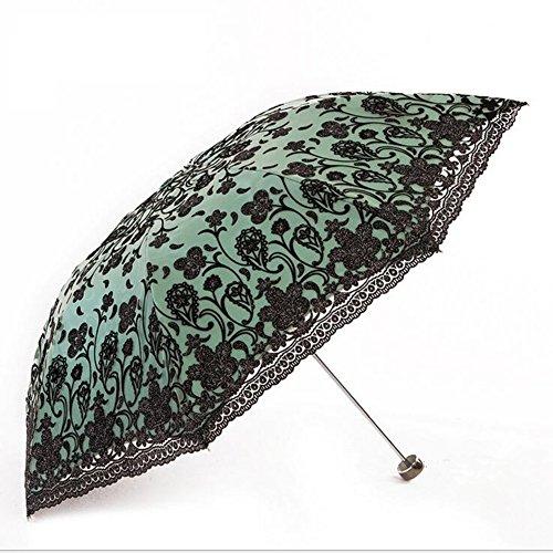 ZL Doppeltes Gesticktes Vinylsonnenschutz Uvschutzregenschirm-Regenschirmsonnenregenschirmregenschirm