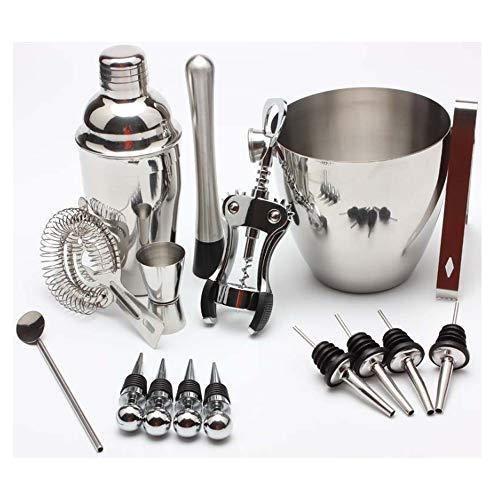 Martini-Cocktail-Shaker Set - Pera Brand 16-teiliges Edelstahl Cocktail-Shaker Mixer Bar Werkzeug Set Bestes Geschenk für Männer und Frauen