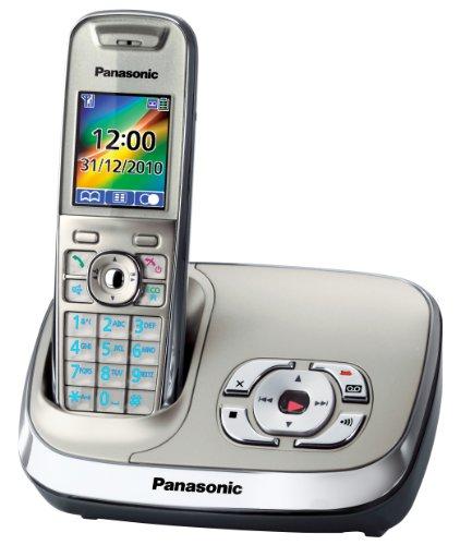 Panasonic KX-TG8521GN schnurloses Telefon mit Anrufbeantworter silber
