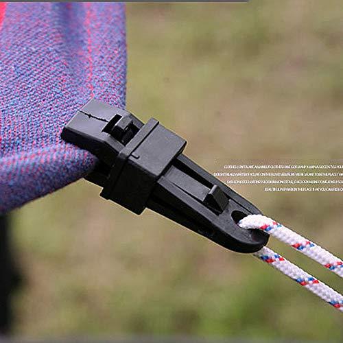 tyughjytu 5PCS Tentes Clips corde Corde multifonctions vent Boucle Camping Tarp Clips fixes