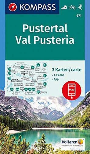 Preisvergleich Produktbild Pustertal, Val Pusteria: 3 Wanderkarten 1:25000 im Set inklusive Karte zur offline Verwendung in der KOMPASS-App. Fahrradfahren. Skitouren. (KOMPASS-Wanderkarten, Band 671)