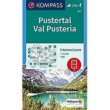 Pustertal, Val Pusteria: 3 Wanderkarten 1:25000 im Set inklusive Karte zur offline Verwendung in der KOMPASS-App. Fahrradfahren. Skitouren. (KOMPASS-Wanderkarten, Band 671)