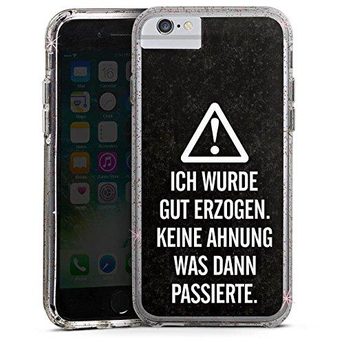 Apple iPhone 6s Bumper Hülle Bumper Case Glitzer Hülle Vie Life Leben Bumper Case Glitzer rose gold