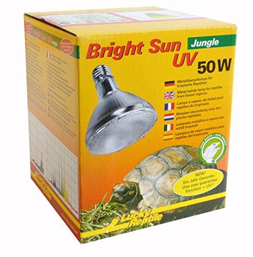 Lucky Reptile BSJ-50 Bright Sun UV Jungle, 50 W, Metalldampflampe für E27 Fassung mit UVA und UVB Strahlung (Vorschaltgerät erforderlich) (Uv-lampe Die Intensität)