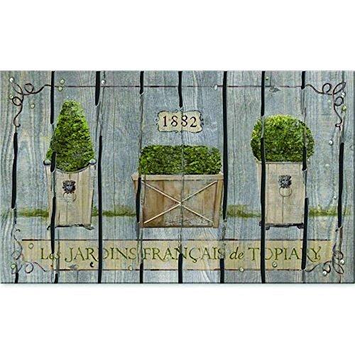 Jkimiiscute Masterpiece Französischer Garten-Formschnitt, 39,9 x 59,9 cm, 59,9 x 39,9 cm, Grau (Kleinkinder Für Ostern-schuhe)