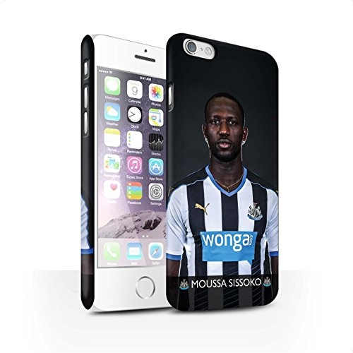 Officiel Newcastle United FC Coque / Clipser Matte Etui pour Apple iPhone 6 / Pack 25pcs Design / NUFC Joueur Football 15/16 Collection Sissoko