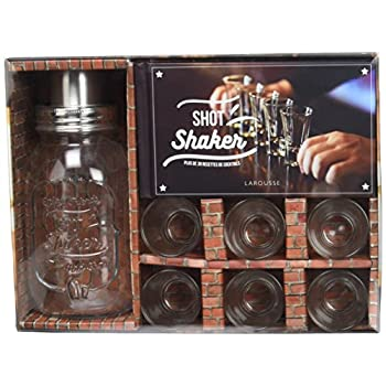 Shot shaker, plus de 30 recettes de cocktails : Avec 1 shaker et 6 verres à shot