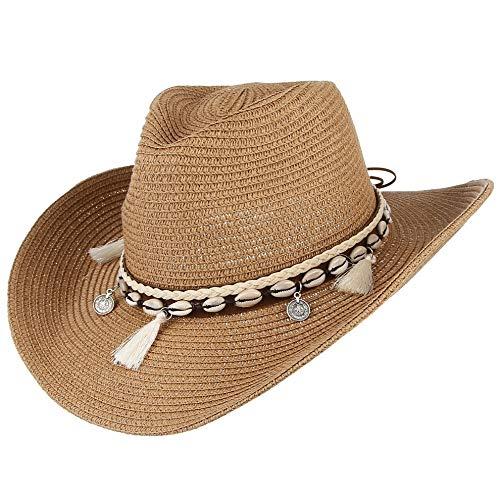 WGYXM Sombrero, para Mujer, Borla Decorativa, Sombrero de Vaquero, Vis