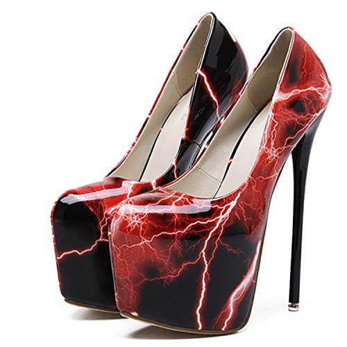 Oasap Damen High Heels Blitz Pumps Red