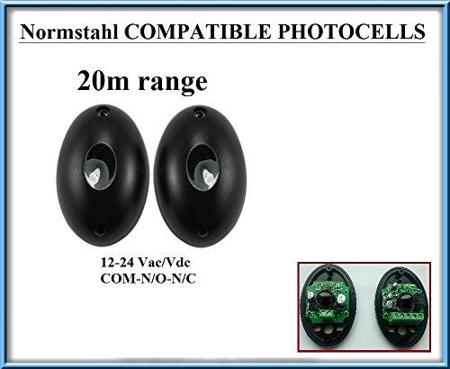 NORMSTAHL Lichtschranken Infrarot Universal kompatibel. Paar Outdoor in mehr Fotozellen Sensoren von Sicherheit. 12-24V, n.o-com-n.c mit Die Gamma 20m.