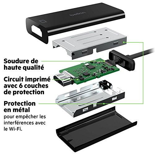 Belkin - Adaptateur USB-C mâle vers HDMI femelle - 15 CM - Noir (compatible avec le nouvel iPad Pro)