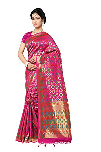 Indian Fashionista Silk Saree With Blouse Piece (Nrpt1170D_Pink_Free Size)