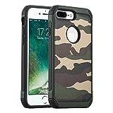 Carcasa iPhone 7 Plus, JAMMYLIZARD Funda Resistente Diseño Camuflaje [ Army ] TPU Heavy Duty Case Cover Para iPhone 7 Plus, VERDE