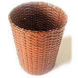 PAPERUS Sonas Creation Customizable Light Brown Waste Basket Dustbin Trashcan Paper Bin Indoor Planter Open Bin STANDARD Size